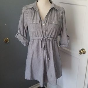 H&m tunic button down side 14